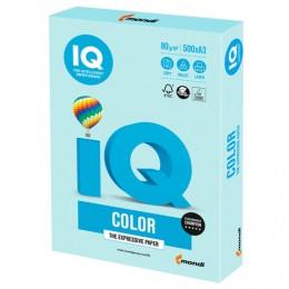 Бумага IQ color БОЛЬШОЙ ФОРМАТ (297х420 мм), А3, 80 г/м2, 500 л., пастель, светло-голубая, BL29