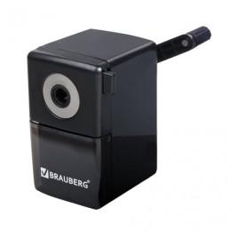 Точилка механическая BRAUBERG Black Jack, металлический механизм, цвет чёрный, 222516