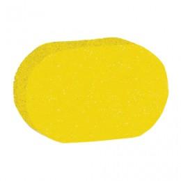 Мочалка губка, поролон, 9 г (4х9,5х14 см), желтая,