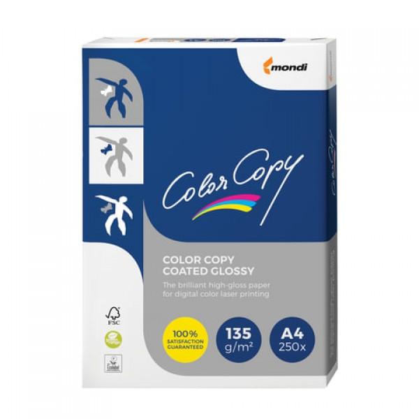 Бумага COLOR COPY GLOSSY, мелованная, глянцевая, А4, 135 г/м2, 250 л., для полноцветной лазерной печати, А++, Австрия, 139% (CIE), A4-27405