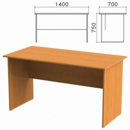 Стол письменный Фея, 1400х700х750 мм, цвет орех милан, СФ02.5