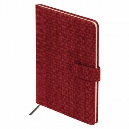 Еженедельник датированный 2022 А5 (145х215мм) BRAUBERG Instinct, кожзам, красный, код, 112863