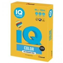 Бумага IQ color, А4, 160 г/м2, 250 л., интенсив, солнечно-желтая, SY40