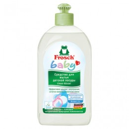 Средство для мытья детской посуды 500 мл FROSCH (Германия), гипоаллергенное, натуральное, ЭКО, флип-топ, 712355