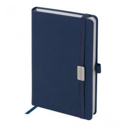 Ежедневник 2021 (138x213мм), А5, BRAUBERG Control, кожзам, держатель для ручки, синий, 111472