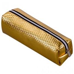 Пенал-косметичка BRAUBERG, глянцевый, мягкий, Celebrity Gold, 21х5х6 см, 228992