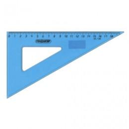Треугольник пластиковый 30х18 см, ПИФАГОР, тонированный, голубой, 210618
