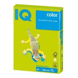 Бумага IQ color БОЛЬШОЙ ФОРМАТ (297х420 мм), А3, 80 г/м2, 500 л., неон, зеленая, NEOGN
