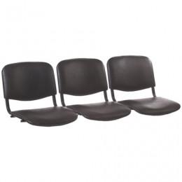 Сиденья для кресла Трим, комплект 3 шт., кожзам черный, каркас черный