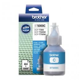 Чернила BROTHER (BT-5000С) для СНПЧ Brother DCP-T500WT700WT300, голубые, ресурс 5000 стр., оригинальные, BT5000C