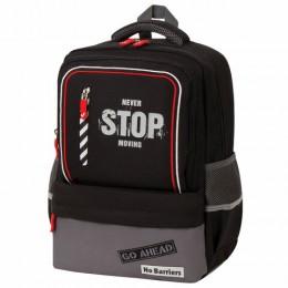 Рюкзак BRAUBERG STAR, Stop, черный, 40х29х13 см, 229979