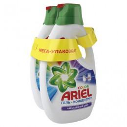 Средство для стирки жидкое автомат 1,95 + 1,95 л ARIEL (Ариэль) Color, гель, концентрат, 8001841031187