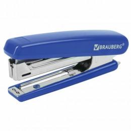 Степлер №10 BRAUBERG Classic, до 12 листов, с антистеплером, синий, 228499