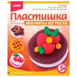 Набор для лепки на магните ПЛАСТИШКА Ароматная выпечка, тесто для лепки, стек, магнит, LORI, Мт-002