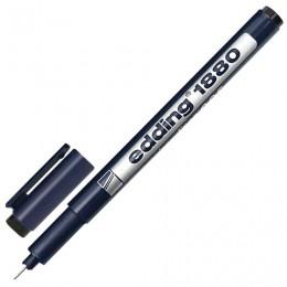 Ручка капиллярная EDDING DRAWLINER 1880, ЧЕРНАЯ, толщина письма 0,05 мм, водная основа, E-1880-0.05/1