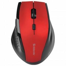 Мышь беспроводная DEFENDER Accura MM-365, USB, 5 кнопок+1 колесо-кнопка, оптическая, красная, 52367