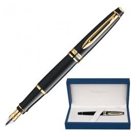 Ручка подарочная перьевая WATERMAN Expert 3 Black Lacquer GT, черный лак, позолоченные детали, синяя, S0951640