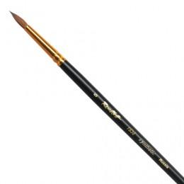 Кисть художественная ROUBLOFF (Рублев), синтетика, жесткая, круглая, № 5, короткая ручка, ЖС1-05,00Ж