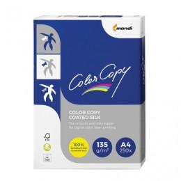 Бумага COLOR COPY SILK, мелованная матовая, А4, 135 г/м2, 250 л., для полноцветной лазерной печати, А++, Австрия, 138% (CIE), A4-27404