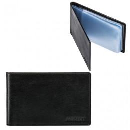 Визитница карманная FABULA Estet на 40 визитных карт, натуральная кожа, черная, V.1.MN