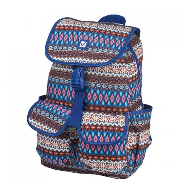 Рюкзак BRAUBERG молодежный, узоры,