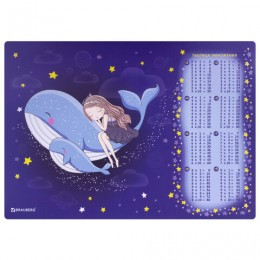 Настольное покрытие BRAUBERG, А3+, пластик, 46x33 см, Ocean dream, 270400