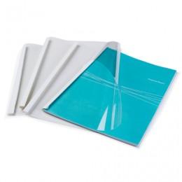 Обложки для термопереплета, А4, КОМПЛЕКТ 100 шт., 1,5 мм, 1-8 л., верх прозрачный ПВХ, низ картон, FELLOWES, FS-53151