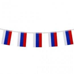 Гирлянда из флагов России, длина 2,5м, 10 прямоугольных флажков 10х15см, BRAUBERG, 550187