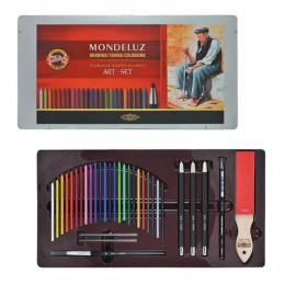Набор художественный KOH-I-NOOR Mondeluz, 32 предмета, металлическая коробка, 3796032001PL