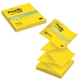 Блок самоклеящийся (стикер) POST-IT ORIGINAL Лето (Z-блок) 76х76 мм, 100 л., желтый неон, R330-ONY