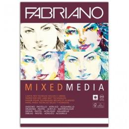 Альбом для рисования А4 (210х297 мм) FABRIANO Mixed Media, мелкое зерно, 40 листов, 250 г/м2, 19100381