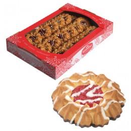 Печенье БЕЛОГОРЬЕ Камилла, сдобное в темной глазури с декором, 550 г, 31-03