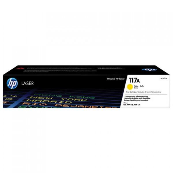 Картридж лазерный HP (W2072A) для HP Color Laser 150a/nw/178nw/fnw, желтый, ресурс 700 страниц, оригинальный