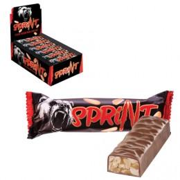 Шоколадный батончик Спринт, мягкая карамель и арахис в шоколадной глазури, 50 г, КЗ1389