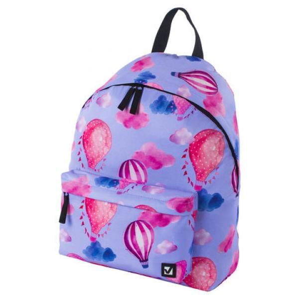 Рюкзак BRAUBERG, универсальный, сити-формат, Воздушные шары, 20 литров, 41х32х14 см, 228853