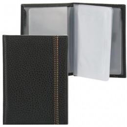 Бумажник водителя FABULA Brooklyn, натуральная кожа, отстрочка, 6 пластиковых карманов, черный, BV.70.BR