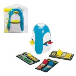 Диспенсер для закладок самоклеящ. POST-IT Professional, голубой + закладки 1 шт. - 25 мм, 4 шт. - 12,7 мм, TRIDEX BLUE