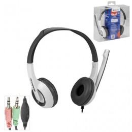 Наушники с микрофоном (гарнитура) DEFENDER Esprit 055, проводная, 2 м, стерео, с оголовьем, mini jack 3,5 мм, 63055