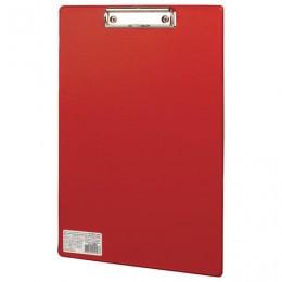 Доска-планшет BRAUBERG Comfort с прижимом А4 (230х350 мм), картон/ПВХ, РОССИЯ, КРАСНАЯ, 222658