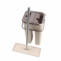 Набор для уборки швабра+МОП, двухкамерное ведро, система отжима MILEY EASY MOP, сменная насадка в комплекте, дополнительная насадка 607753, 100-170