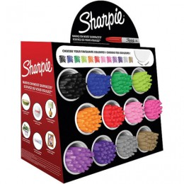 Дисплей настольный для размещения маркеров SHARPIE FINE, 12 ячеек, 288 маркеров, 47,5х24х38 см, 2033584