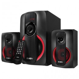 Колонки компьютерные SVEN AC MS-304, 2.1, 40 Вт, FM, USB, SD, MP3-плеер, Bluetooth, дерево, черные, SV-015602