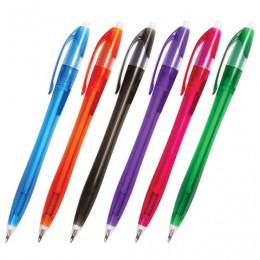 Ручка шариковая автоматическая BRAUBERG Chance, СИНЯЯ, корпус тонированный ассорти, узел 0,7 мм, линия письма 0,35 мм, 141160