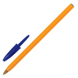 Ручка шариковая BIC Orange, СИНЯЯ, корпус оранжевый, узел 0,8 мм, линия письма 0,3 мм, 8099221