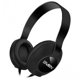Наушники с микрофоном (гарнитура) SVEN AP-310M, провод 1,2 м, с оголовьем, черные, SV-015312
