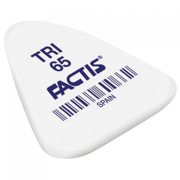 Ластик FACTIS TRI 65 (Испания), 36х33х6 мм, ассорти, треугольный, PNFTRI65