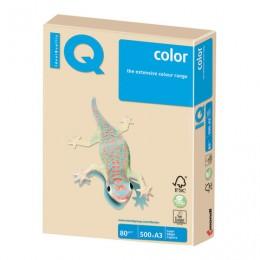 Бумага IQ color БОЛЬШОЙ ФОРМАТ (297х420 мм), А3, 80 г/м2, 500 л., пастель, темно-кремовая, SA24