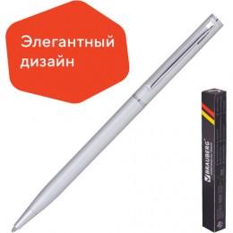 Ручка бизнес-класса шариковая BRAUBERG Delicate Silver, корпус серебристый, узел 1 мм, линия письма 0,7 мм,синяя, 141401