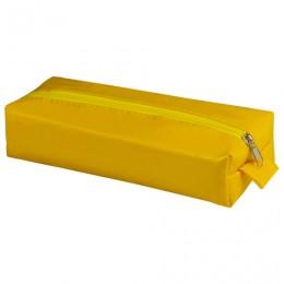 Пенал-косметичка BRAUBERG под искусственную кожу, Блеск, желтый, 20х6х4 см, 226718
