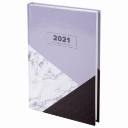 Ежедневник датированный 2021 (145х215мм), А5, STAFF, ламинированная обложка, Дизайн 6, 111821